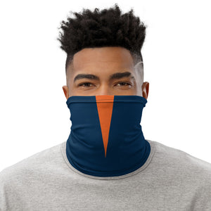 Denver Broncos Style Neck Gaiter as Face Mask on Man