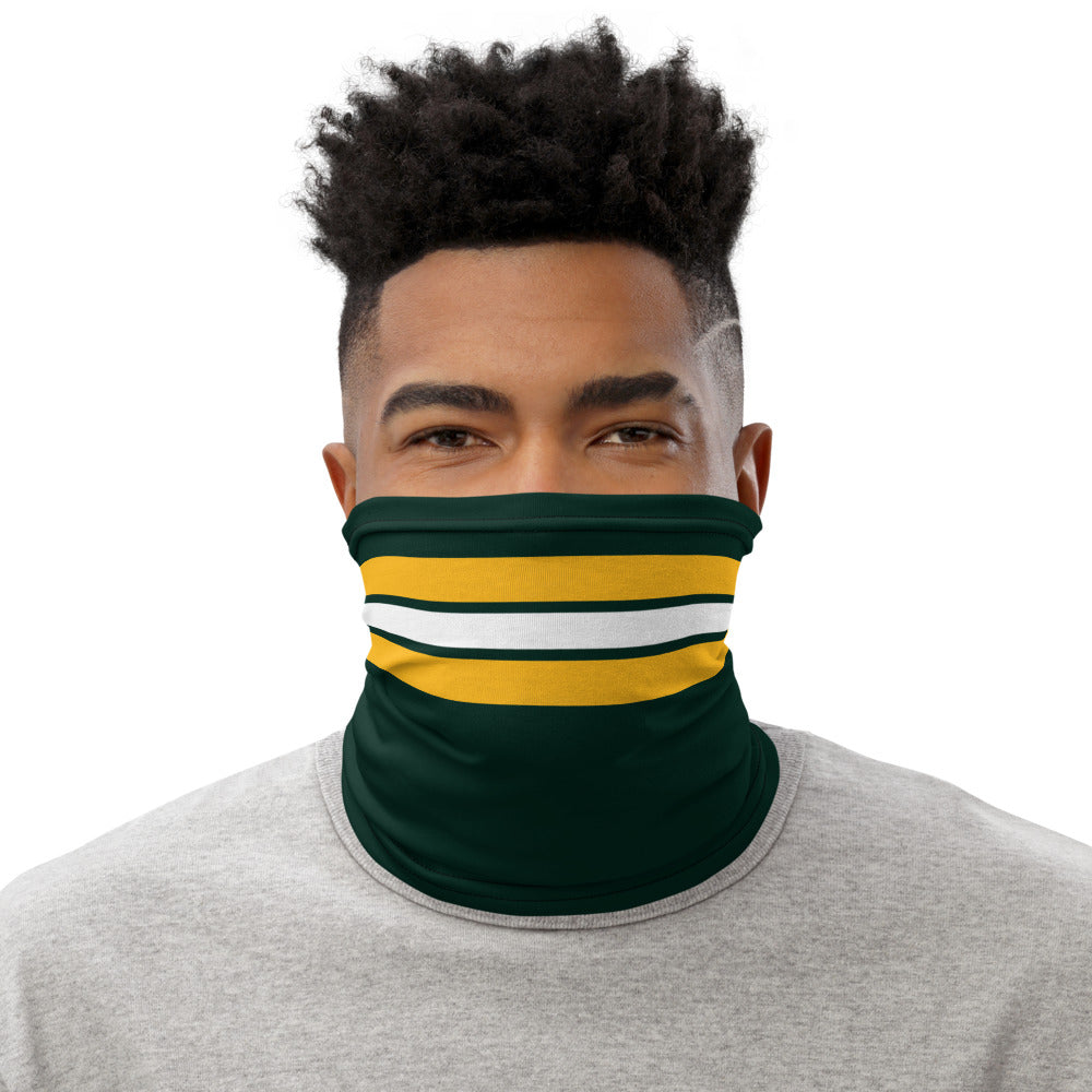 Load image into Gallery viewer, Green Bay Packers Style Neck Gaiter as Face Mask on Man