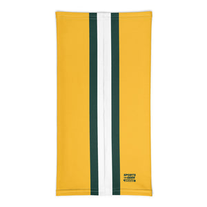 Green Bay Packers Style Neck Gaiter Tube Flat Back