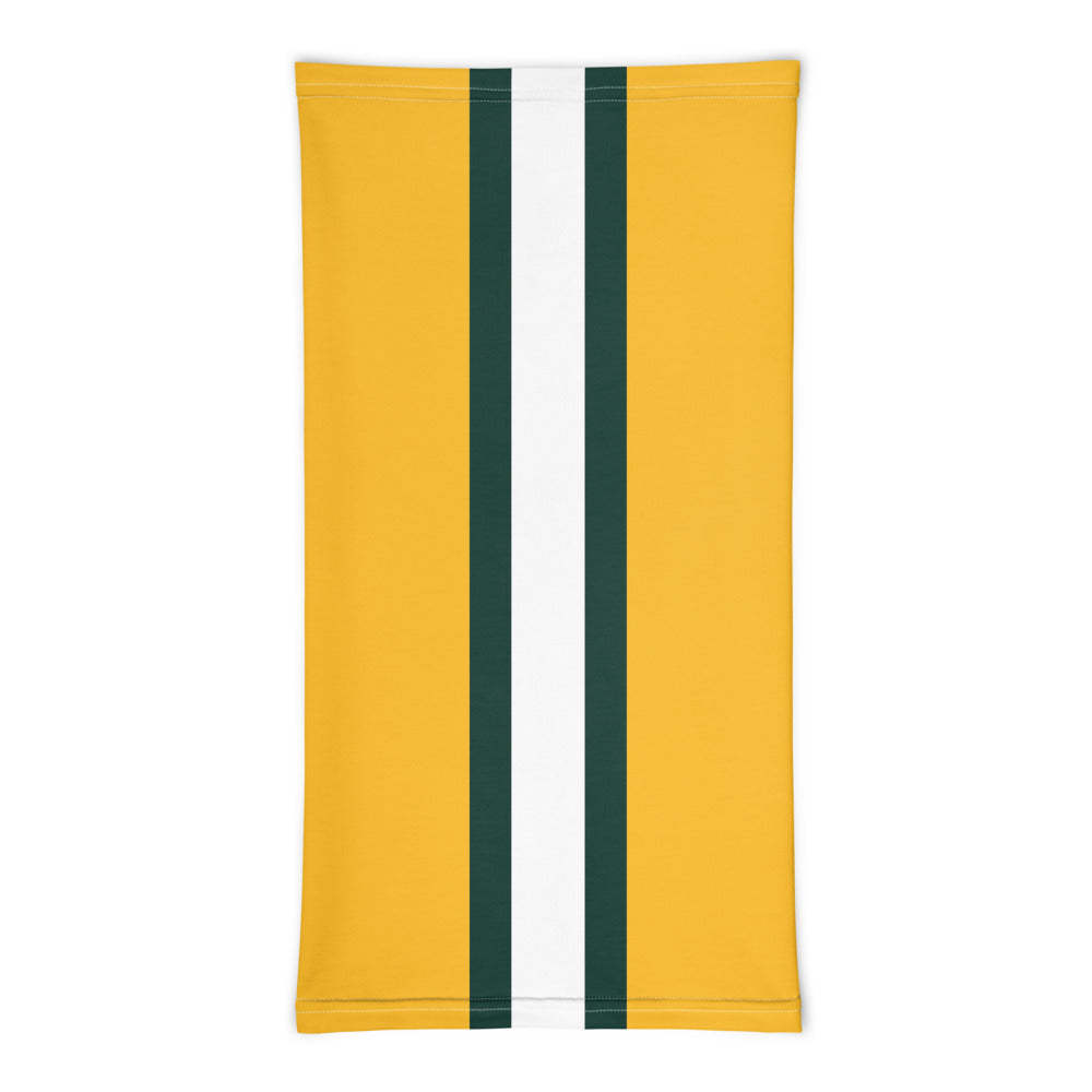 Green Bay Packers Style Neck Gaiter Tube Flat Front
