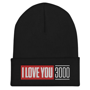 Black I Love You 3000 Beanie