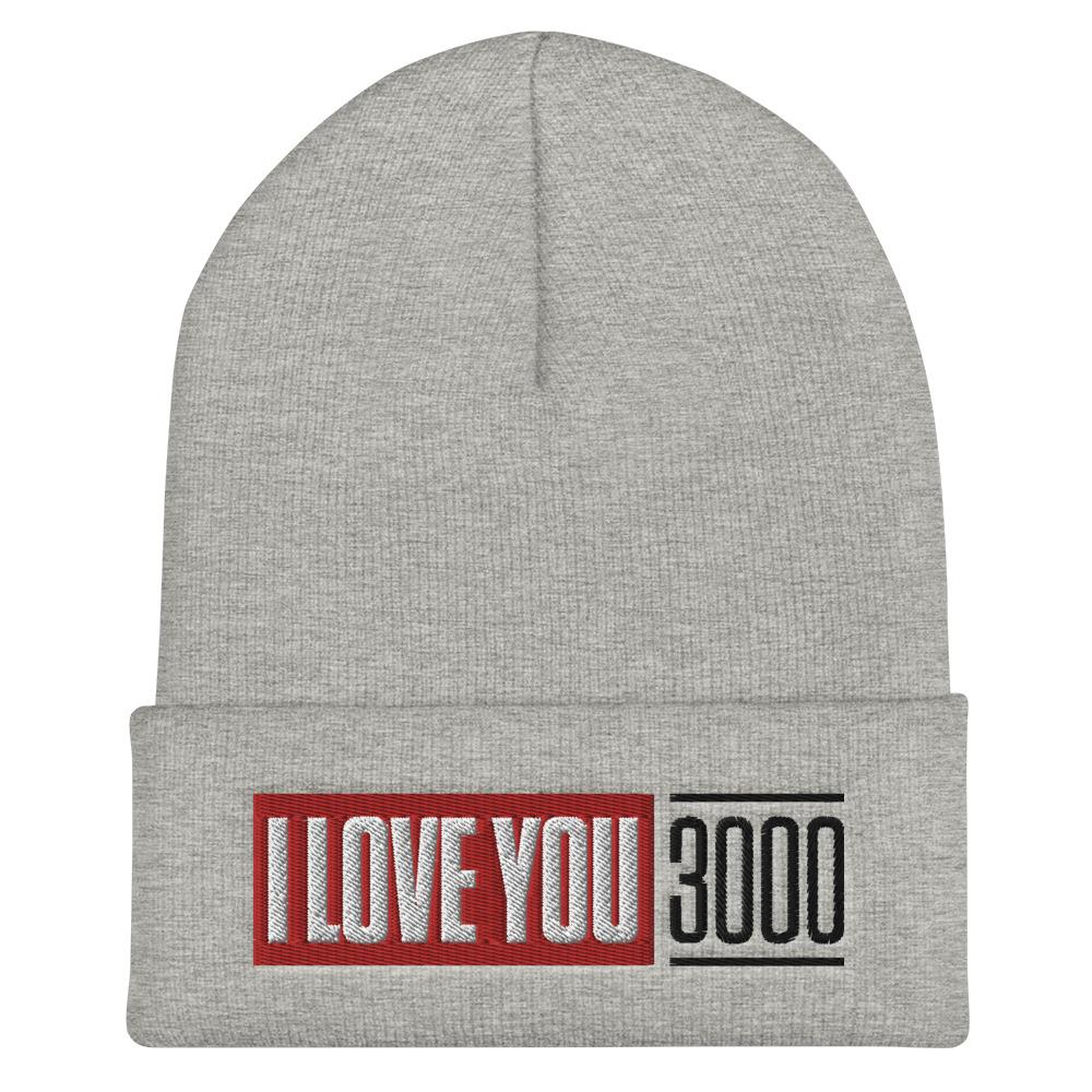 Load image into Gallery viewer, Heather Grey I Love You 3000 Beanie