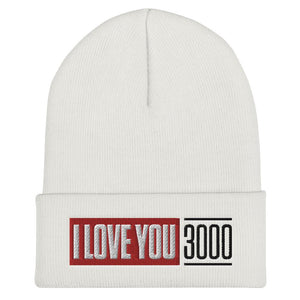 White I Love You 3000 Beanie