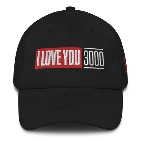 Black I Love You 3000 Dad Hat Side View