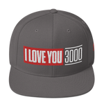 Dark Grey I Love You 3000 Classic Snapback Hat Front