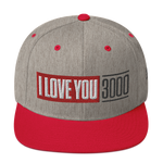 Heather and Red I Love You 3000 Classic Snapback Hat Front