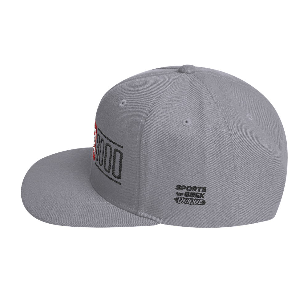 Silver I Love You 3000 Classic Snapback Hat Side