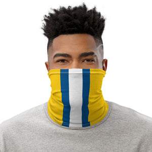 Los Angeles Rams Style Neck Gaiter as Face Mask on Man