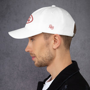 Mars Rover Dad Hat White & Red