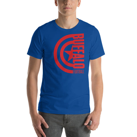 Captain Buffalo Football Short-Sleeve Unisex T-Shirt (Red Design)