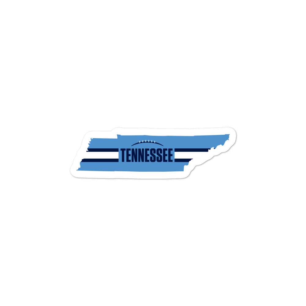Tennessee Football Tennessee Outline Sticker (Light Blue Design)