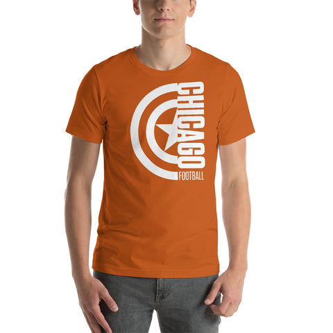 Captain Chicago Football Short-Sleeve Unisex T-Shirt (White Design)