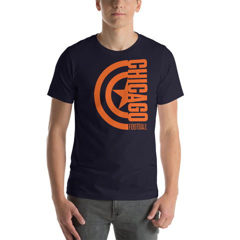 Captain Chicago Football Short-Sleeve Unisex T-Shirt (Orange Design)
