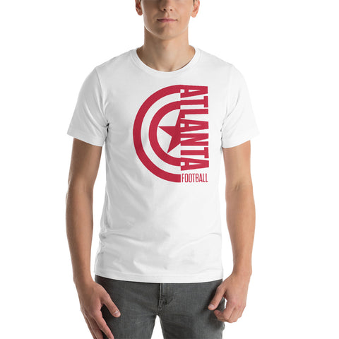 Captain Atlanta Football Short-Sleeve Unisex T-Shirt (Red Design)