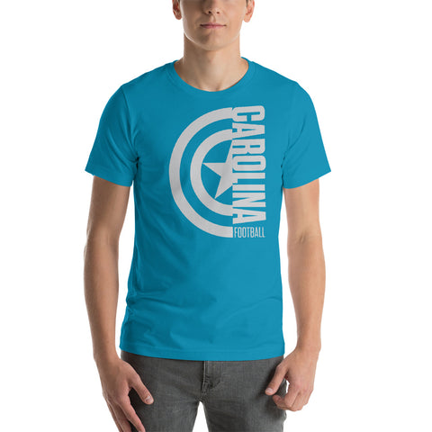 Captain Carolina Football Short-Sleeve Unisex T-Shirt (Silver Design)