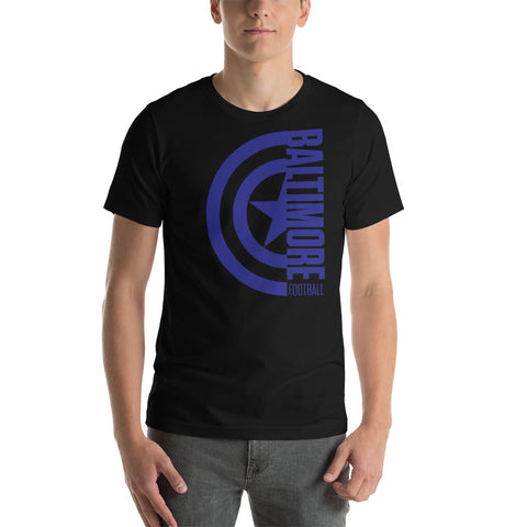 Captain Baltimore Football Short-Sleeve Unisex T-Shirt (Purple Design)