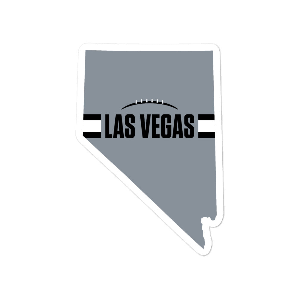 Las Vegas Football Nevada Outline Sticker (Silver Design)