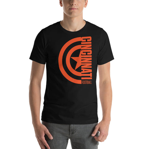 Captain Cincinnati Football Short-Sleeve Unisex T-Shirt (Orange Design)
