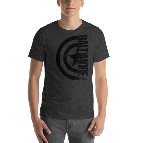 Captain Baltimore Football Short-Sleeve Unisex T-Shirt (Black Design)