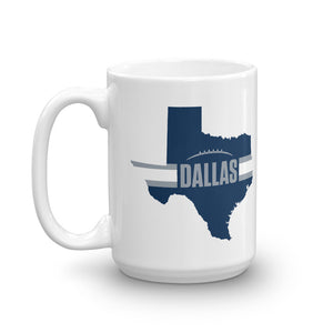 Load image into Gallery viewer, Dallas Football Texas Outline Mug (Blue Design)