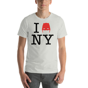 Devil of Hell's Kitchen I Love New York Daredevil Silver T-Shirt