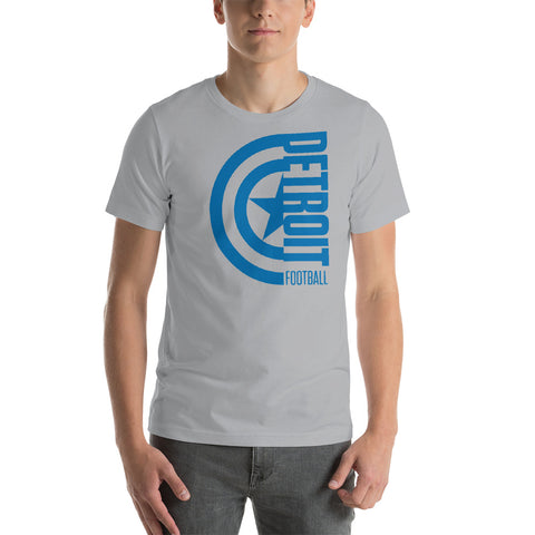 Captain Detroit Football Short-Sleeve Unisex T-Shirt (Blue Design)