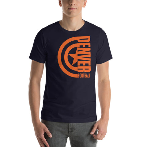 Captain Denver Football Short-Sleeve Unisex T-Shirt (Orange Design)