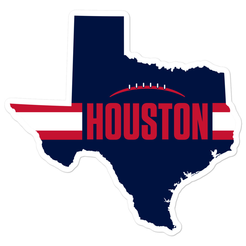 Load image into Gallery viewer, Houston Football Texas Outline Sticker (Blue Design)