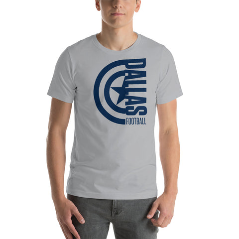 Captain Dallas Football Short-Sleeve Unisex T-Shirt (Blue Design)
