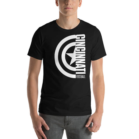 Captain Cincinnati Football Short-Sleeve Unisex T-Shirt (White Design)
