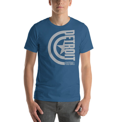 Captain Detroit Football Short-Sleeve Unisex T-Shirt (Silver Design)