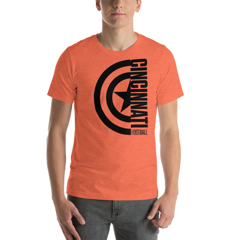 Captain Cincinnati Football Short-Sleeve Unisex T-Shirt (Black Design)