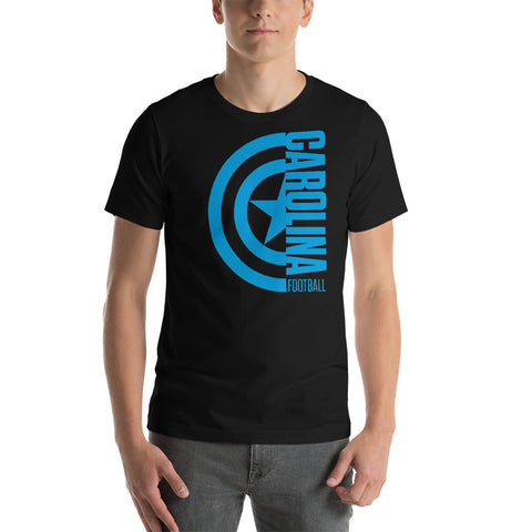 Captain Carolina Football Short-Sleeve Unisex T-Shirt (Blue Design)