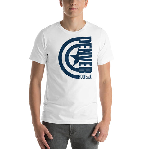 Captain Denver Football Short-Sleeve Unisex T-Shirt (Blue Design)