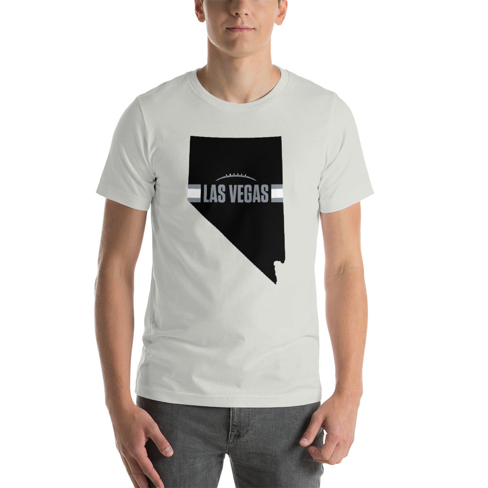 Load image into Gallery viewer, Las Vegas Football Nevada Outline Short-Sleeve Unisex T-Shirt (Black Design)