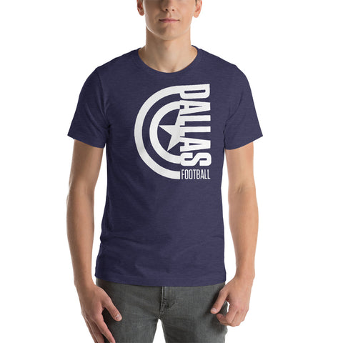 Captain Dallas Football Short-Sleeve Unisex T-Shirt (White Design)