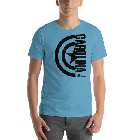 Captain Carolina Football Short-Sleeve Unisex T-Shirt (Black Design)