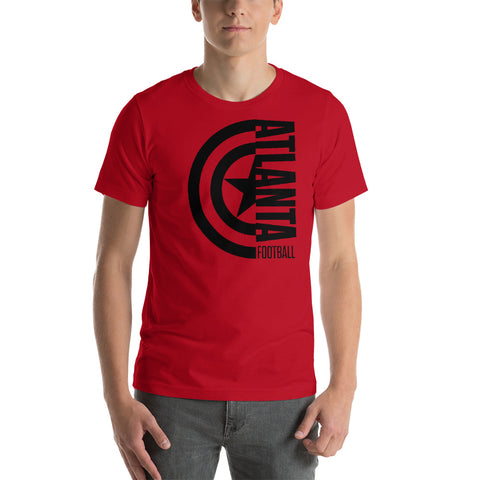 Captain Atlanta Football Short-Sleeve Unisex T-Shirt (Black Design)