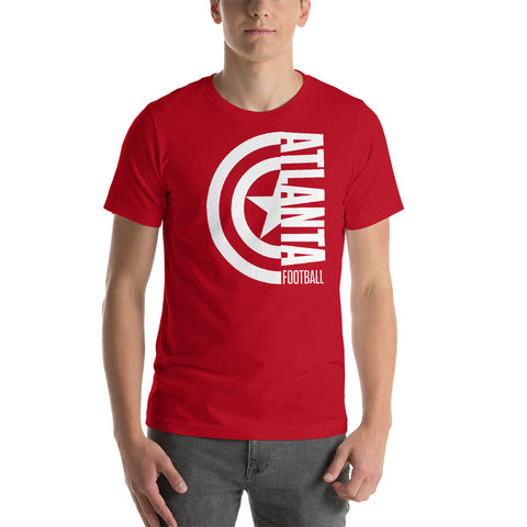 Captain Atlanta Football Short-Sleeve Unisex T-Shirt (White Design)