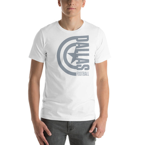 Captain Dallas Football Short-Sleeve Unisex T-Shirt (Silver Design)