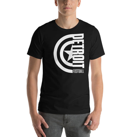 Captain Detroit Football Short-Sleeve Unisex T-Shirt (White Design)