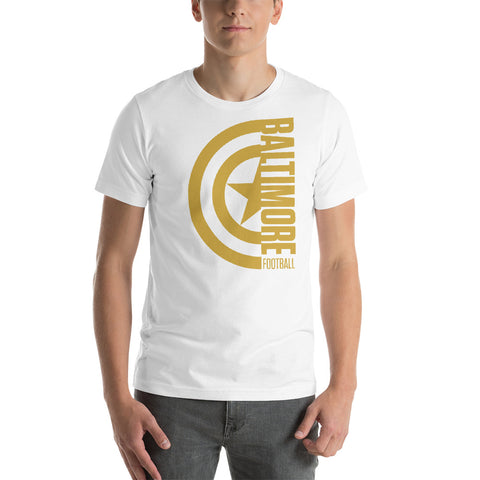 Captain Baltimore Football Short-Sleeve Unisex T-Shirt (Gold Design)