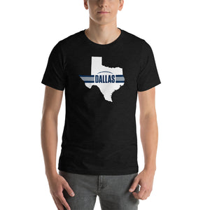 Load image into Gallery viewer, Dallas Football Texas Outline Short-Sleeve Unisex T-Shirt (White Design)