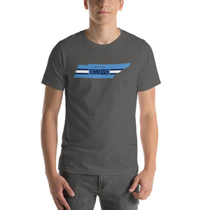 Tennessee Football Tennessee Outline Short-Sleeve Unisex T-Shirt (Light Blue Design)