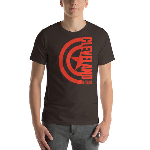 Captain Cleveland Football Short-Sleeve Unisex T-Shirt (Orange Design)