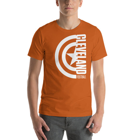 Captain Cleveland Football Short-Sleeve Unisex T-Shirt (White Design)