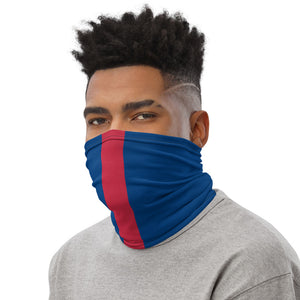 Load image into Gallery viewer, New York Giants Style Neck Gaiter as Face Mask on Man Left