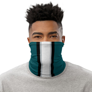Philadelphia Eagles Style Neck Gaiter as Face Mask on Man