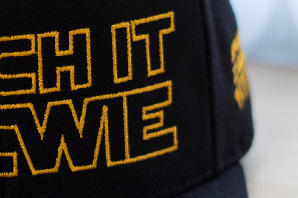 Punch It Chewie Hat Star Wars Embroidery Detail Zoom