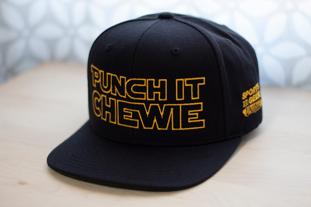 Punch It Chewie Hat Star Wars Quote  Front Left